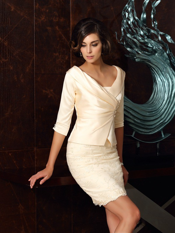 Chic Half Sleeves Satin Special Occasion Wrap