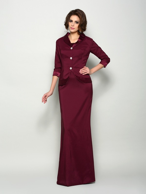Stylish Elastic Woven Satin 3/4 Sleeves Special Occasion Wrap