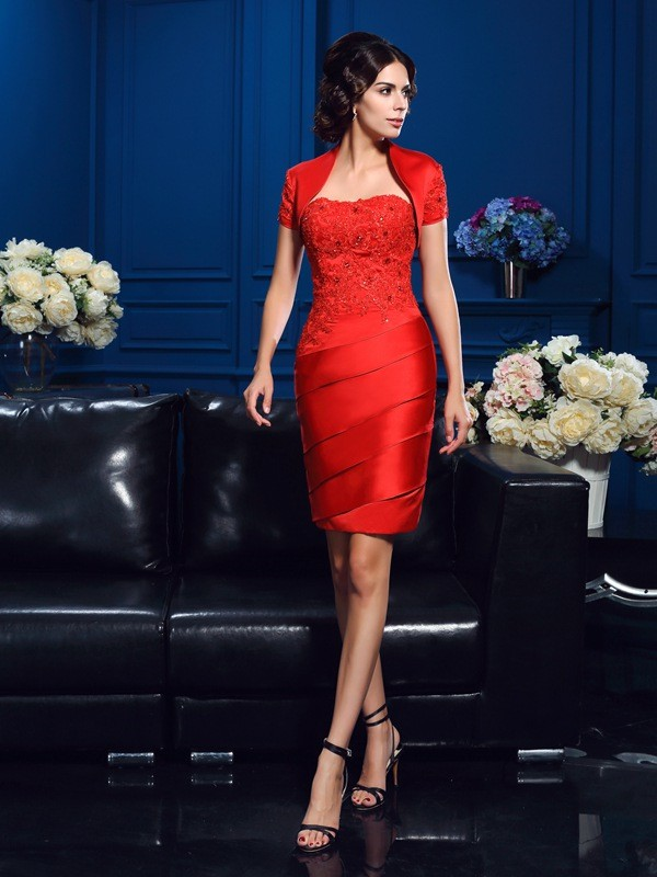 Stylish Short Sleeves Satin Special Occasion Wrap