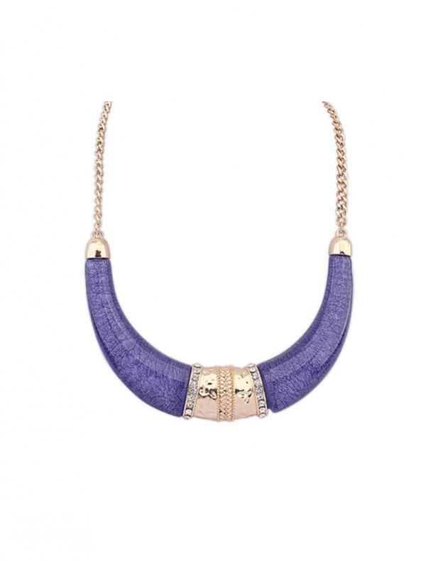 Gorgeous Occident Hyperbolic Ethnic Customs Semi-arc Necklace