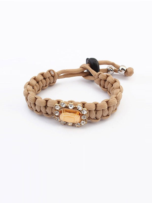 Gorgeous Occident All-match Woven Concise Bracelet
