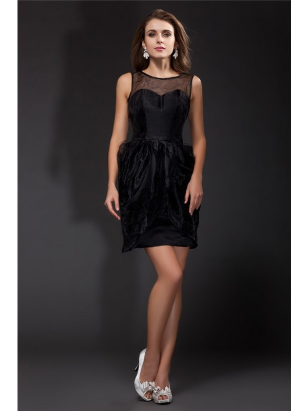 Hot Sale A-Line Scoop Sleeveless Short Organza Cocktail Dress