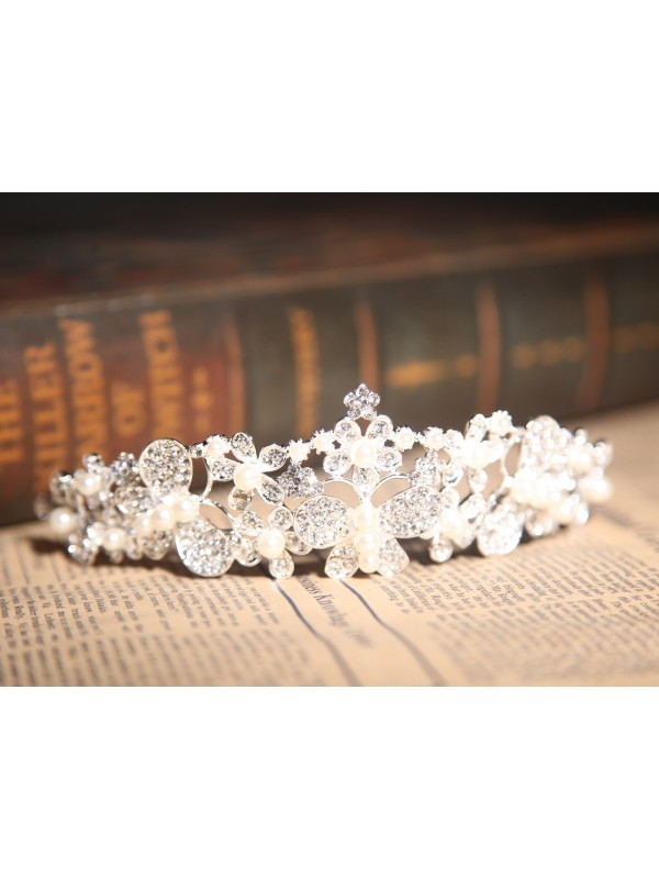 Beautiful Alloy Clear Wedding Headpiece