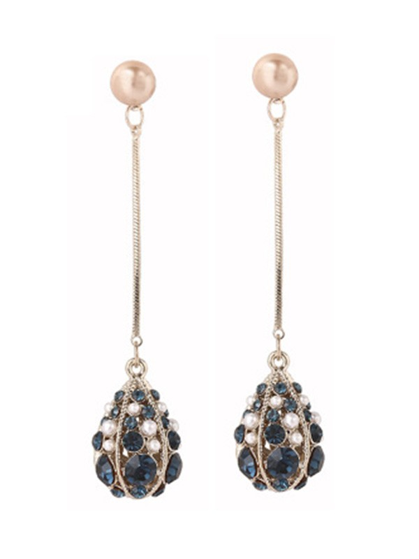 New Hot Sale Silver With Pearl Water Drop Earrings
