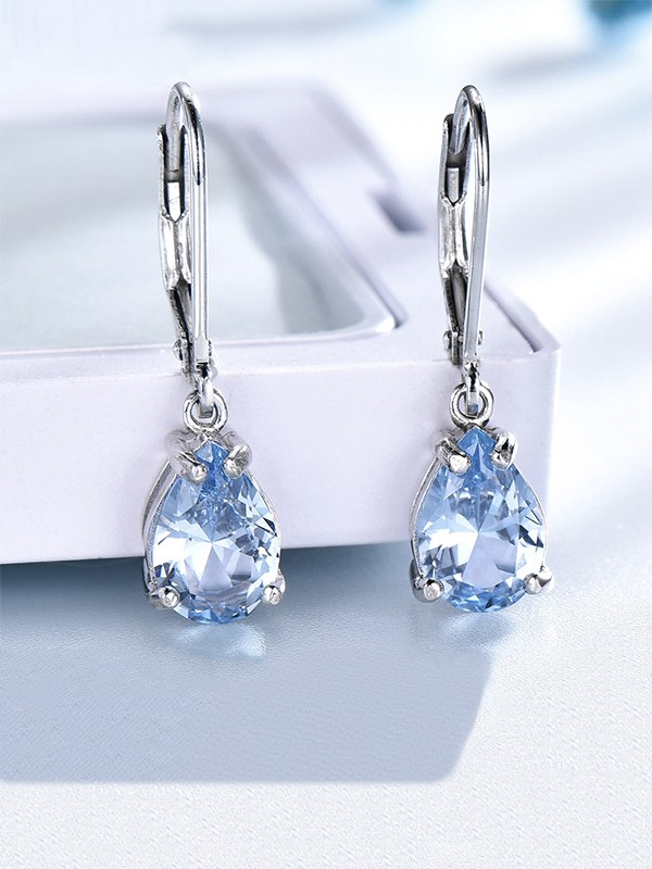 New Hot Sale Gemstone Silver Earrings