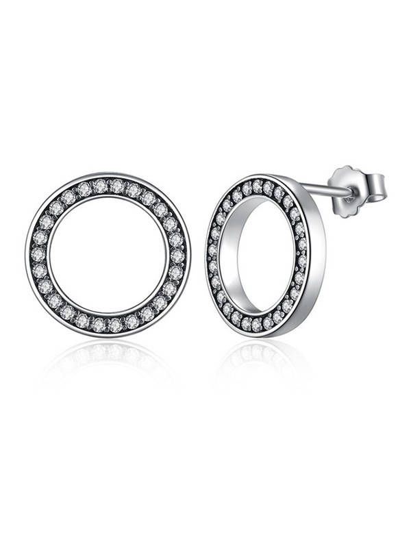 New Hot Sale Circular Silver Earrings