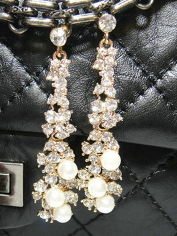 New Hot Sale Alloy With Rhinestone Earrings