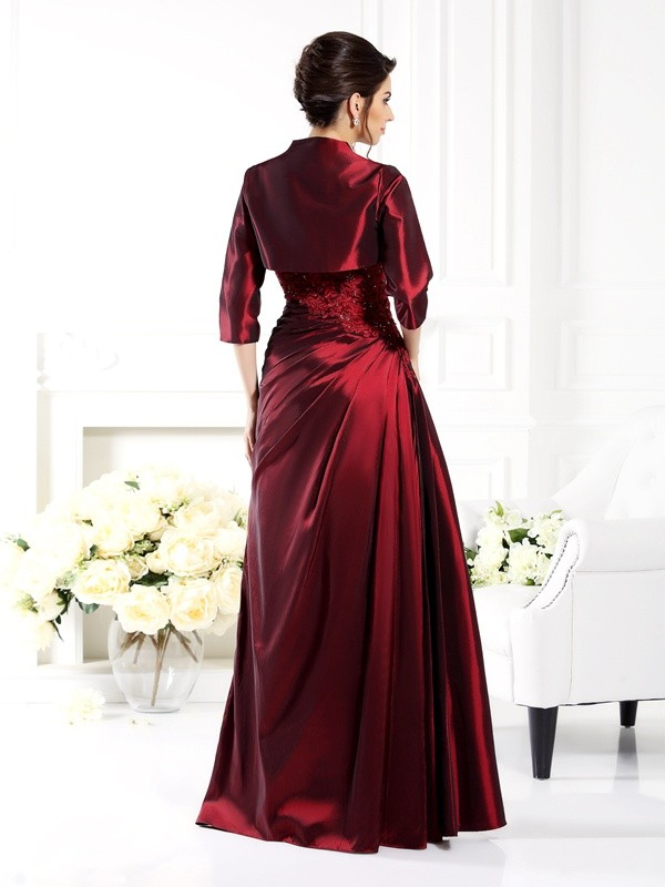 Chic Taffeta 1/2 Sleeves Special Occasion Wrap