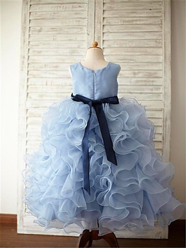 Amazing Ball Gown Sleeveless Scoop Floor-Length Organza Flower Girl Dress