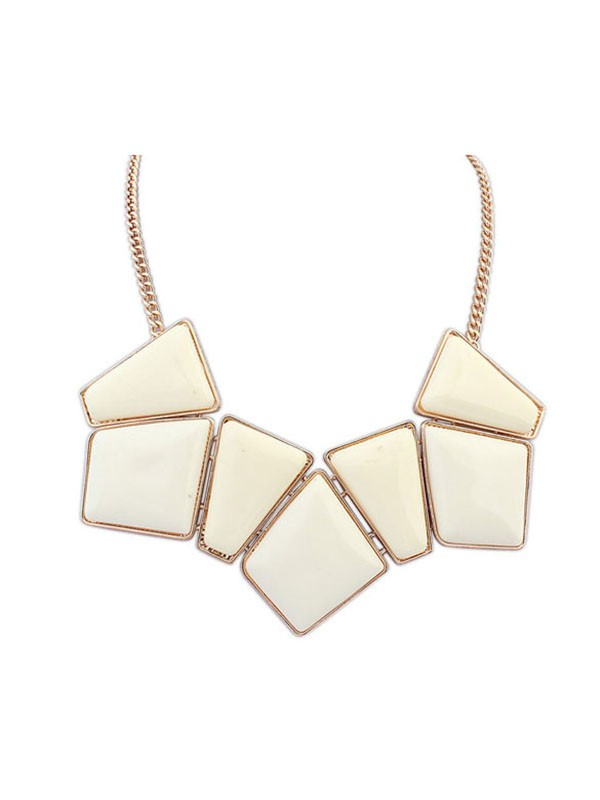 Gorgeous Occident Geometry Blocks All-match Necklace