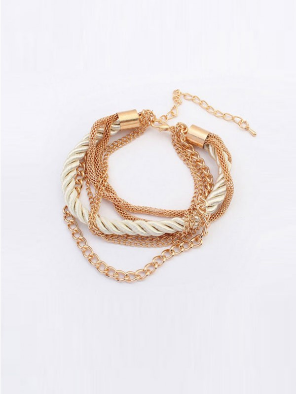 Gorgeous Occident All-match Woven Multi-layered Bracelet