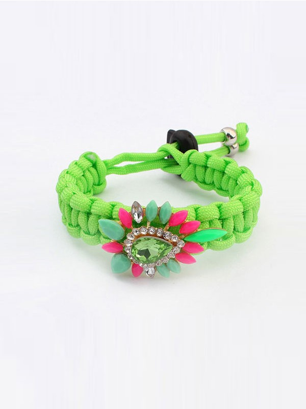 Gorgeous Occident Ethnic Customs Woven Colorful Bracelet
