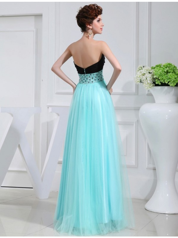 Hot Sale A-Line Sweetheart Sleeveless Elastic Woven Satin Dress