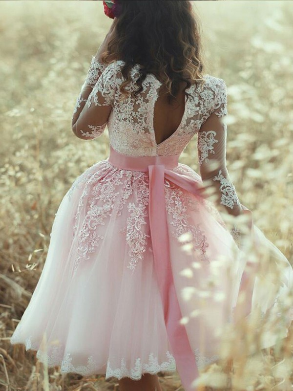 Discount A-Line Sleeveless Sweetheart Lace Tulle Short/Mini Dress