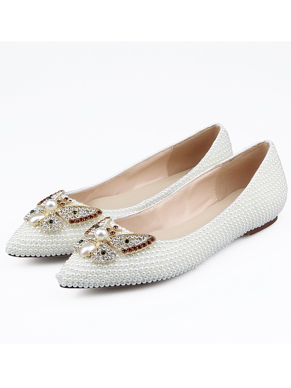 Fancy Women Patent Leather Closed Toe Flat Shoes