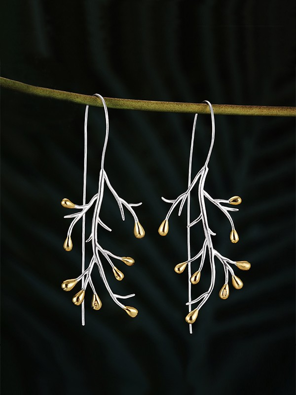 New Hot Sale Tree Sterling Silver Earrings