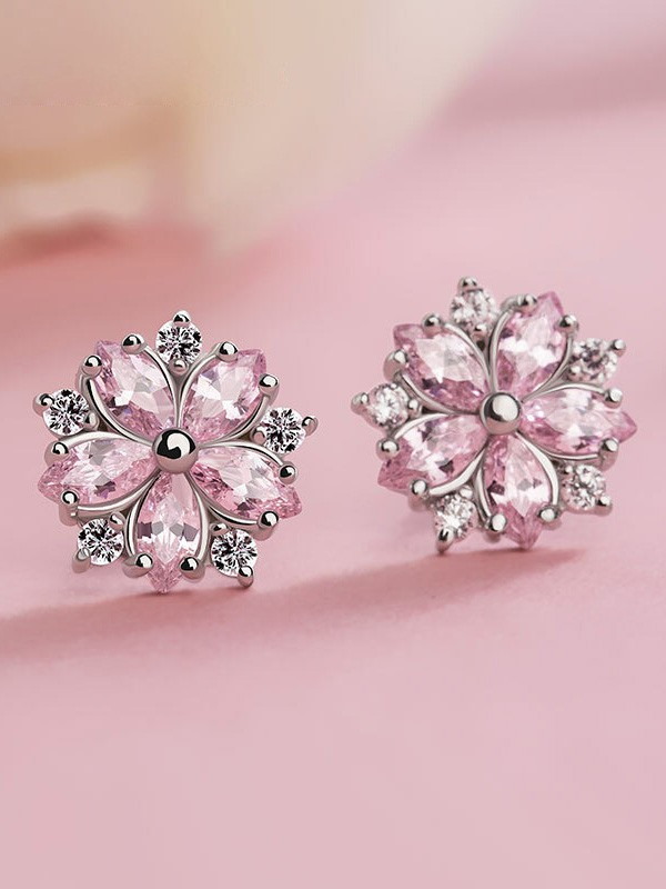 New Hot Sale Silver With Snowflake Earrings