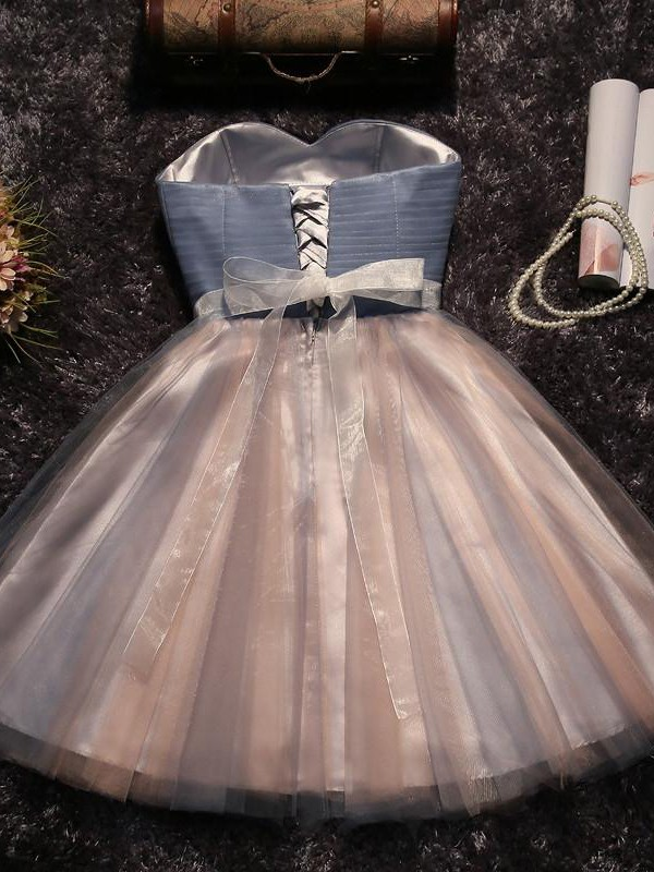Discount A-Line Sweetheart Tulle Short Dress