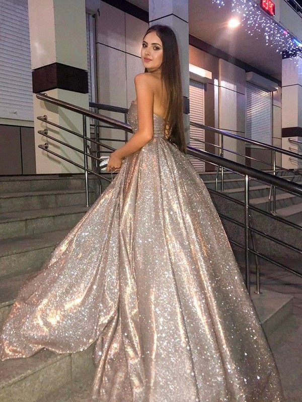 New Arrival Ball Gown Sequins Sweep/Brush Train Sweetheart Dress